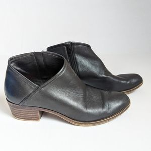 Lucky Brand Brekke Black Leather Cut-Out Boots 8.5